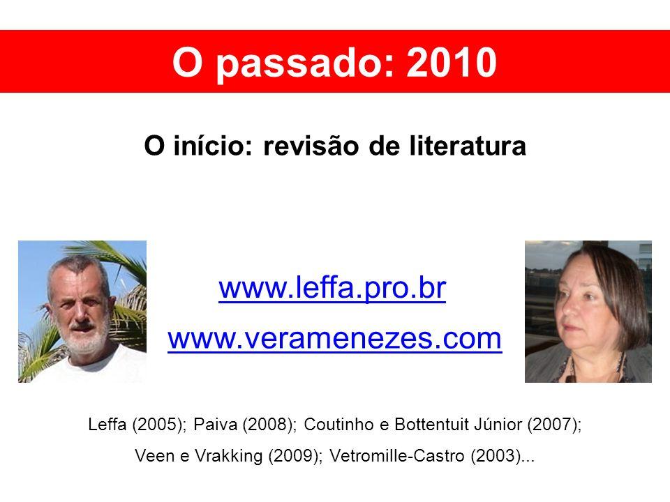 O início: revisão de literatura