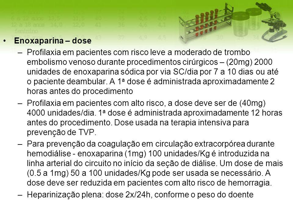 Enoxaparina – dose