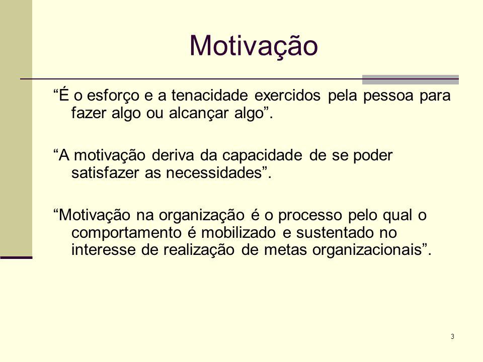 Motivação É o esforço e a tenacidade exercidos pela pessoa para fazer algo ou alcançar algo .