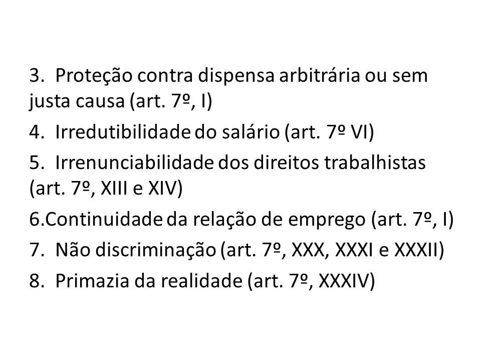 3. Proteção contra dispensa arbitrária ou sem justa causa (art. 7º, I)