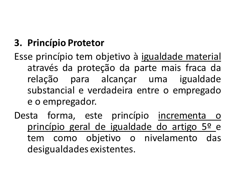 Princípio Protetor