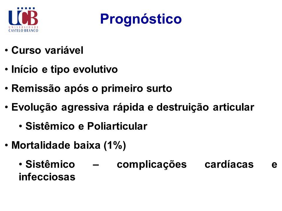 Prognóstico Curso variável Início e tipo evolutivo