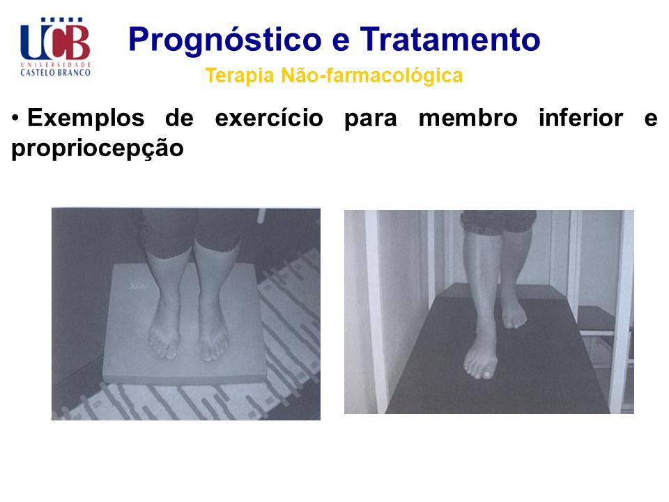 Prognóstico e Tratamento Terapia Não-farmacológica