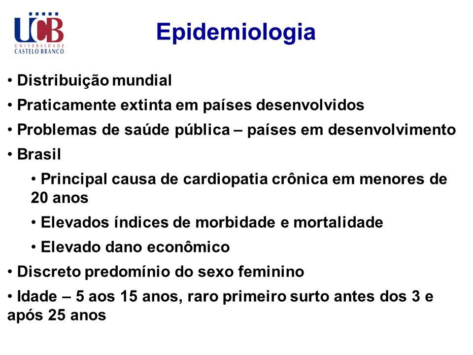 Epidemiologia Distribuição mundial