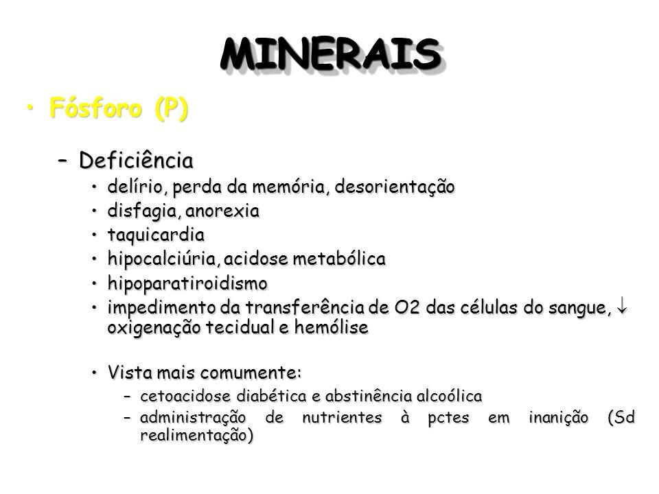 MINERAIS Fósforo (P) Deficiência