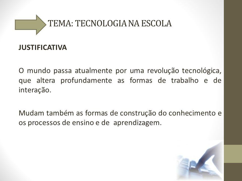 TEMA: TECNOLOGIA NA ESCOLA