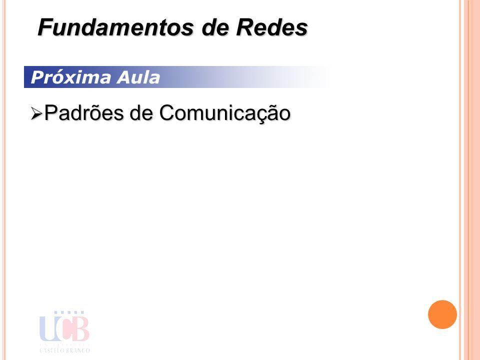 Fundamentos de Redes Próxima Aula Padrões de Comunicação 55