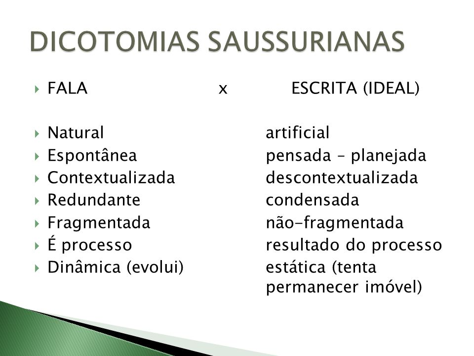 DICOTOMIAS SAUSSURIANAS