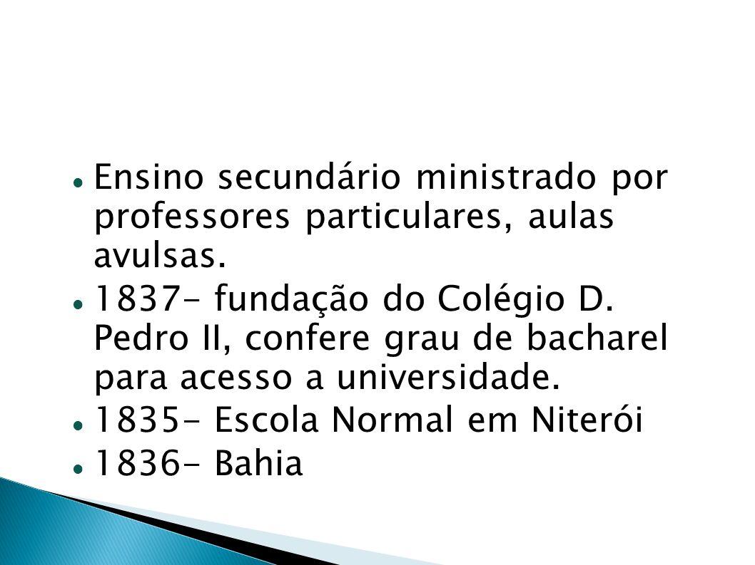 Ensino secundário ministrado por professores particulares, aulas avulsas.