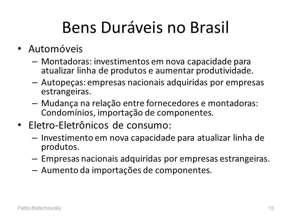 Bens Duráveis no Brasil