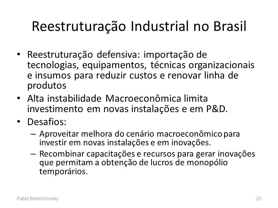 Reestruturação Industrial no Brasil