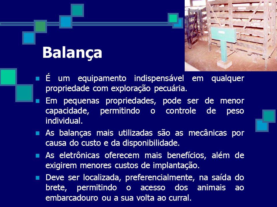 Balança É um equipamento indispensável em qualquer propriedade com exploração pecuária.