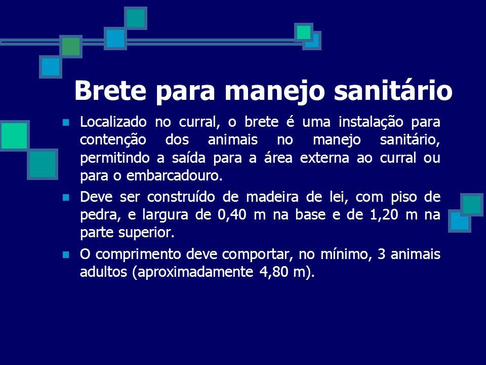 Brete para manejo sanitário