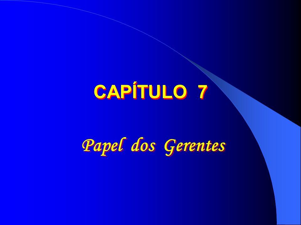 CAPÍTULO 7 Papel dos Gerentes