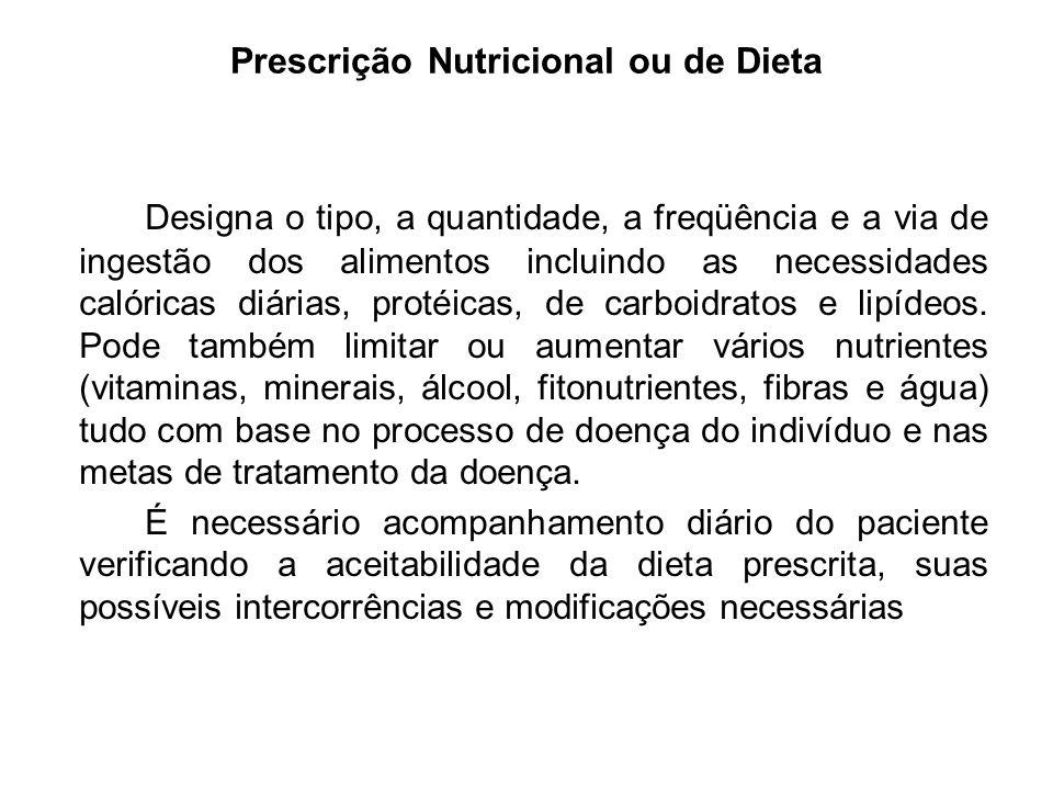 Prescrição Nutricional ou de Dieta