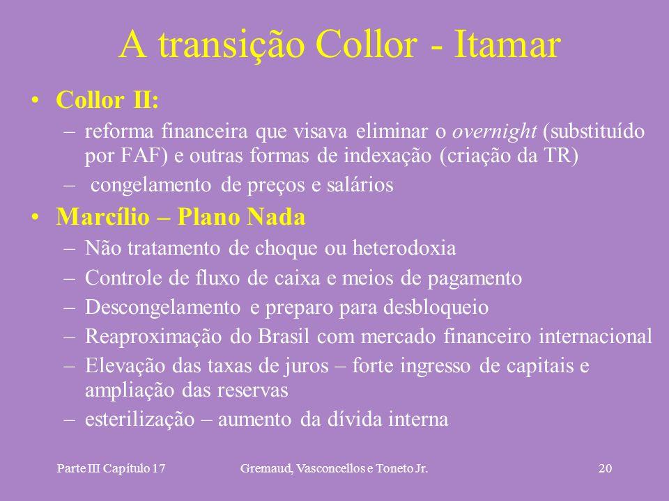 A transição Collor - Itamar
