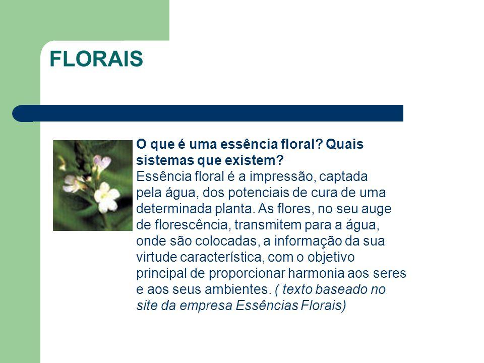 FLORAIS O que é uma essência floral Quais sistemas que existem