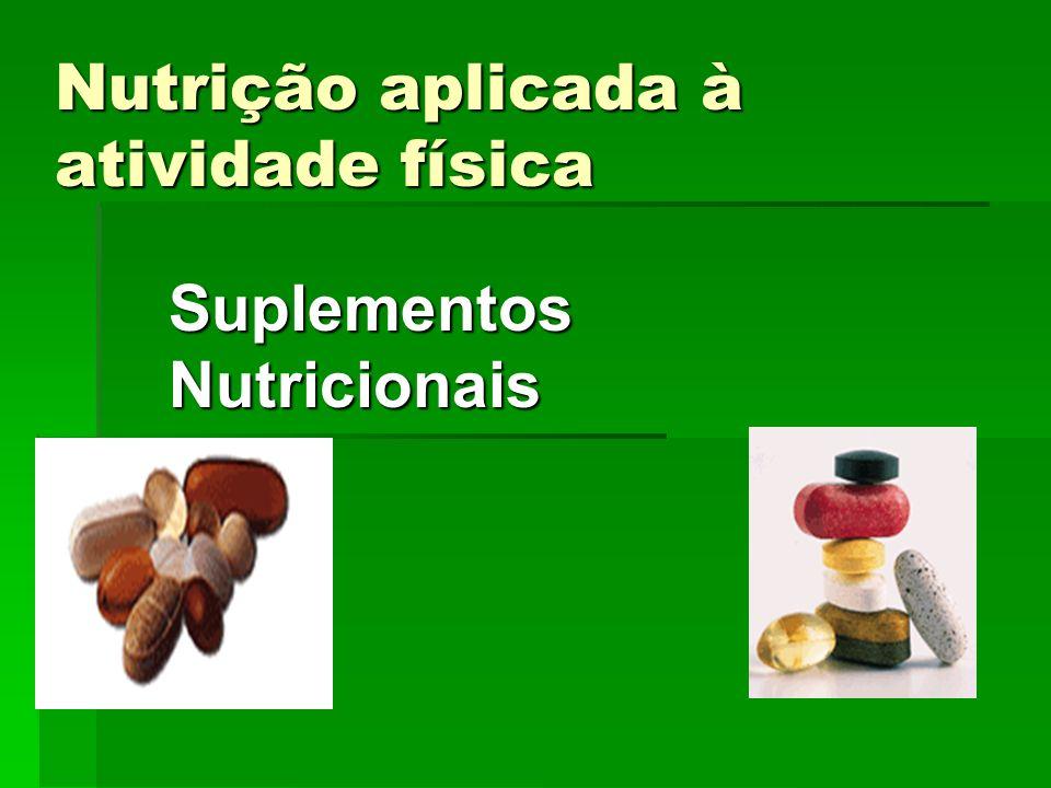 Nutrição aplicada à atividade física