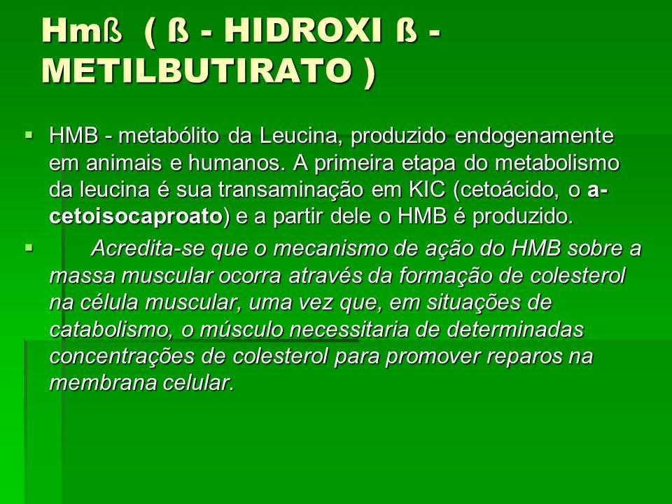 Hmß ( ß - HIDROXI ß - METILBUTIRATO )