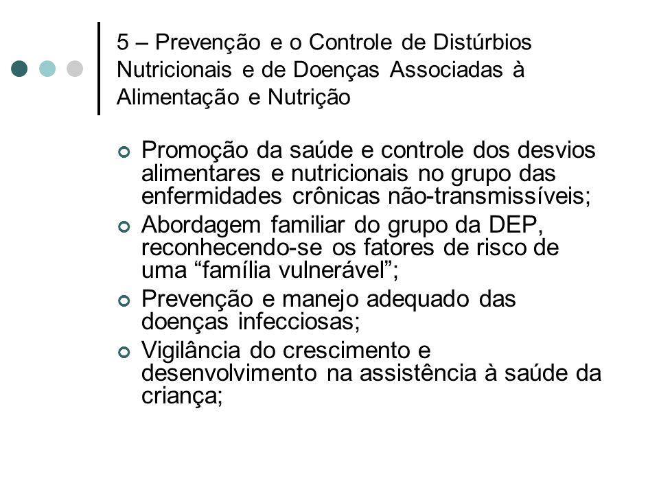 Prevenção e manejo adequado das doenças infecciosas;