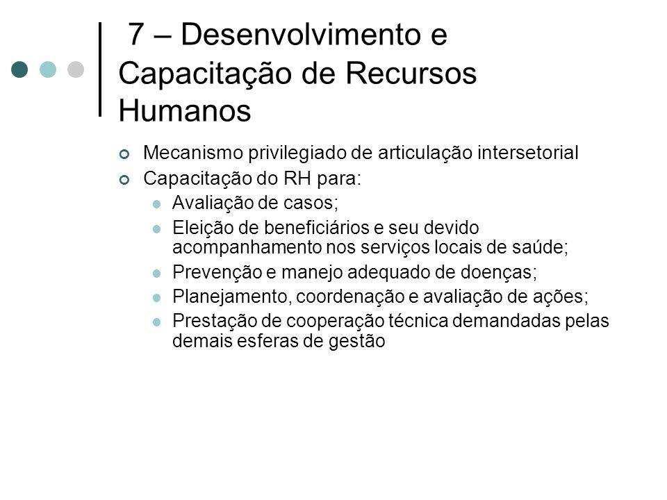 7 – Desenvolvimento e Capacitação de Recursos Humanos