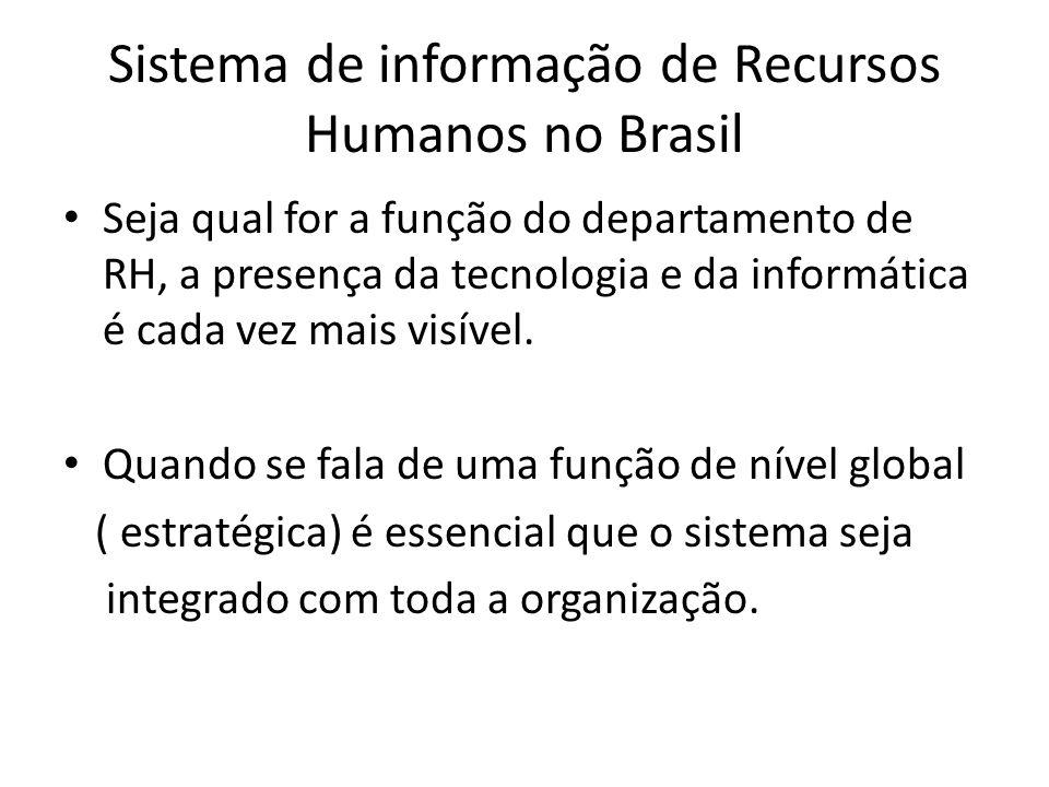 Sistema de informação de Recursos Humanos no Brasil
