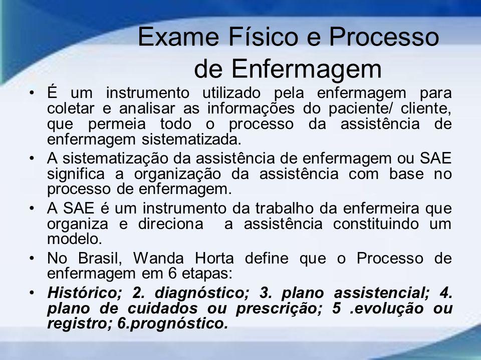 Exame Físico e Processo de Enfermagem