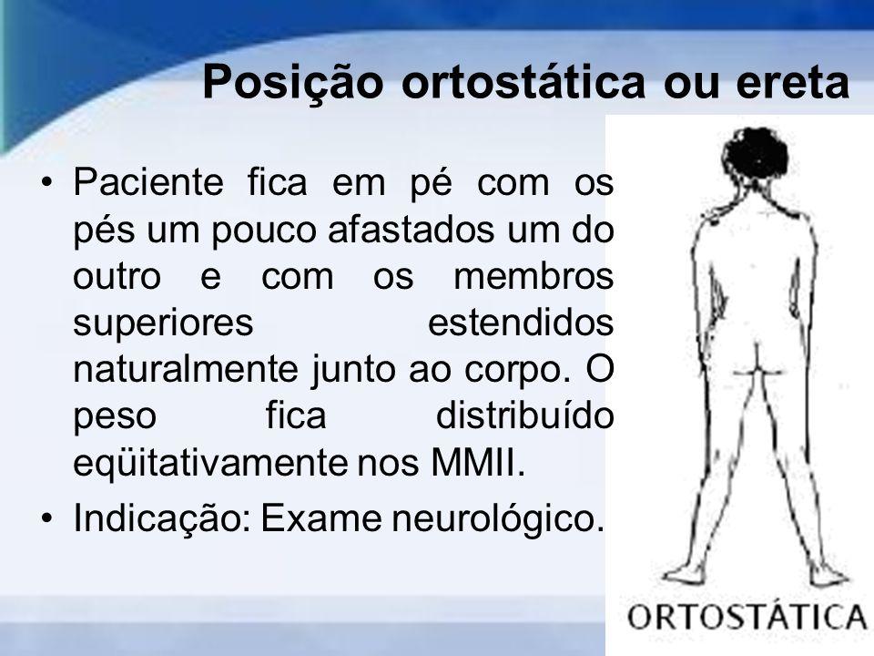 Posição ortostática ou ereta