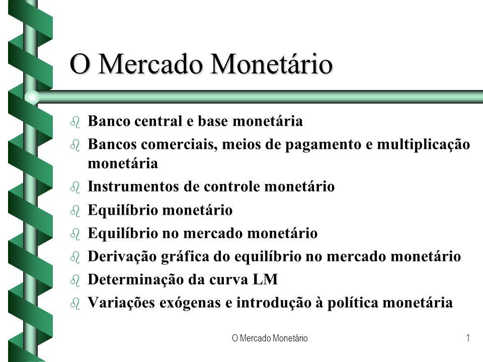 O Mercado Monetário Banco central e base monetária