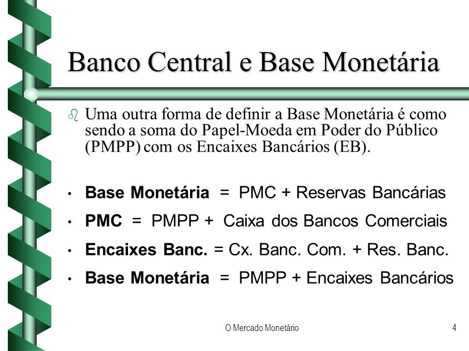 Banco Central e Base Monetária