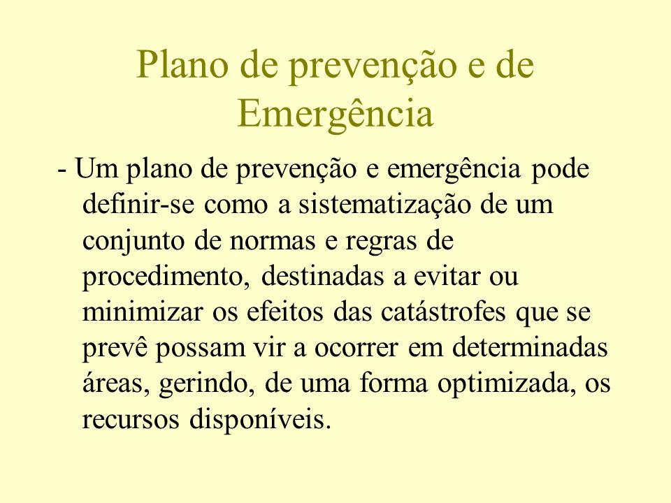 Plano de prevenção e de Emergência