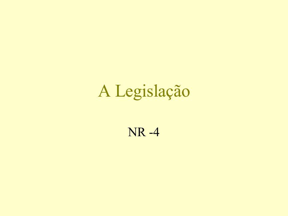 A Legislação NR -4
