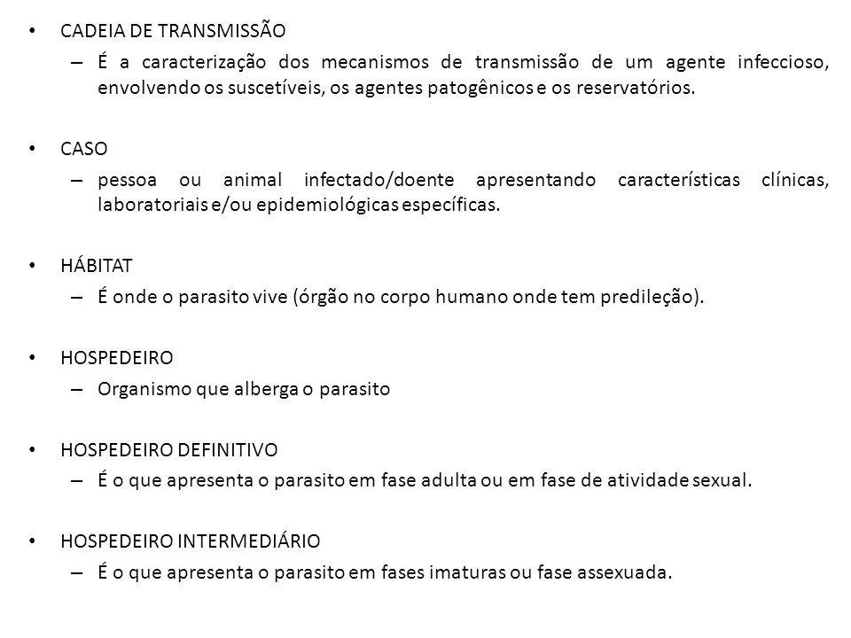 CADEIA DE TRANSMISSÃO