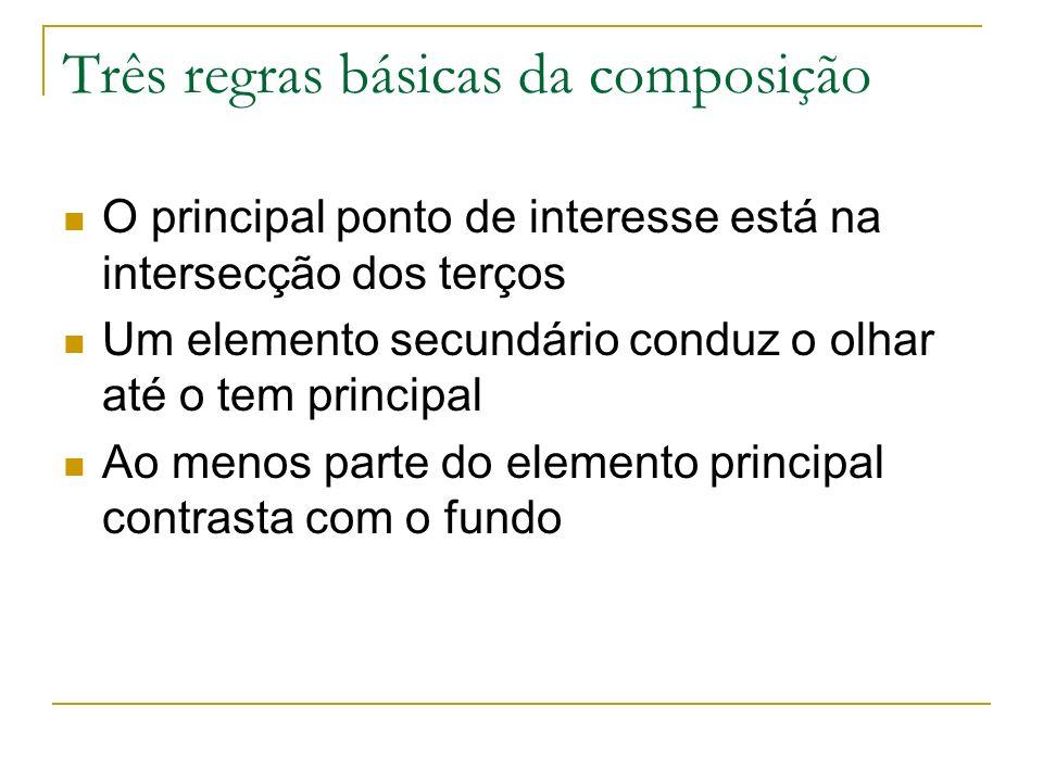 Três regras básicas da composição