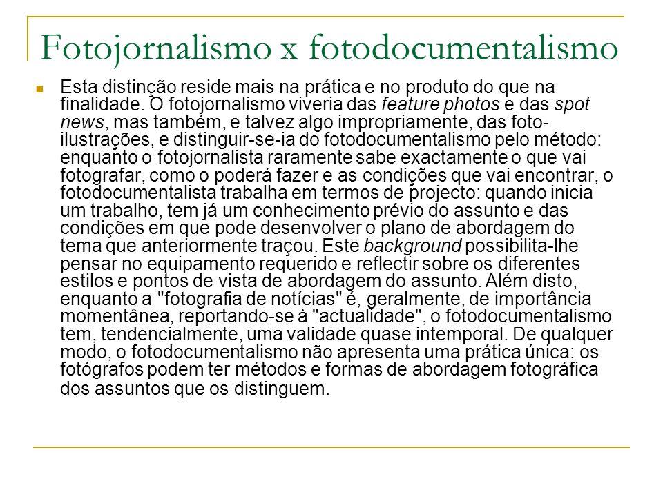Fotojornalismo x fotodocumentalismo
