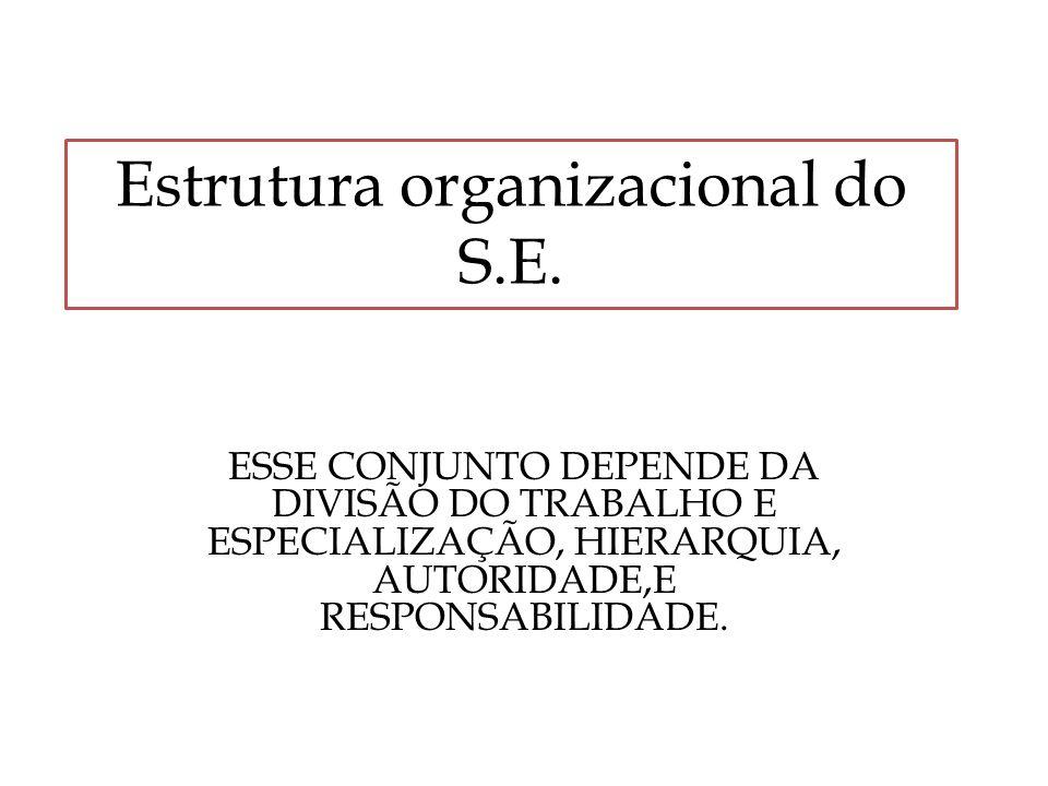 Estrutura organizacional do S.E.