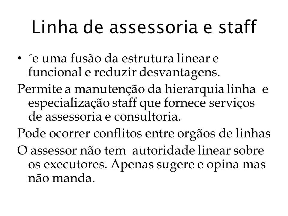 Linha de assessoria e staff