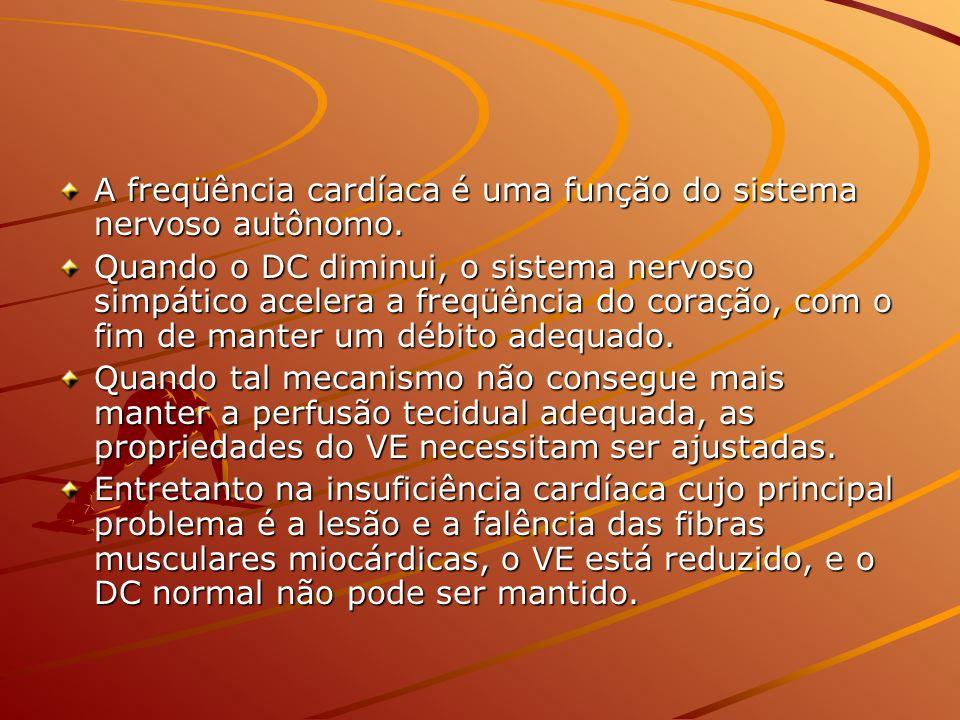 A freqüência cardíaca é uma função do sistema nervoso autônomo.