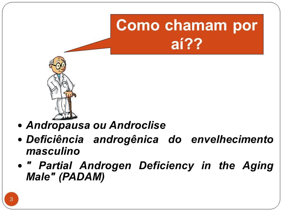 Como chamam por aí Andropausa ou Androclise