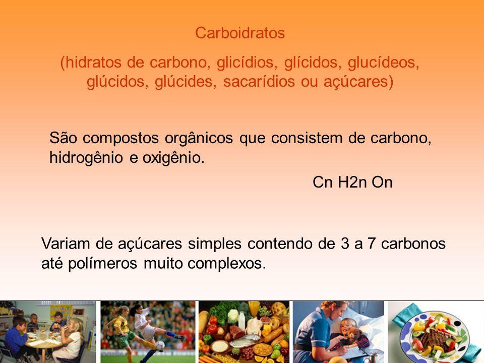 Carboidratos (hidratos de carbono, glicídios, glícidos, glucídeos, glúcidos, glúcides, sacarídios ou açúcares)