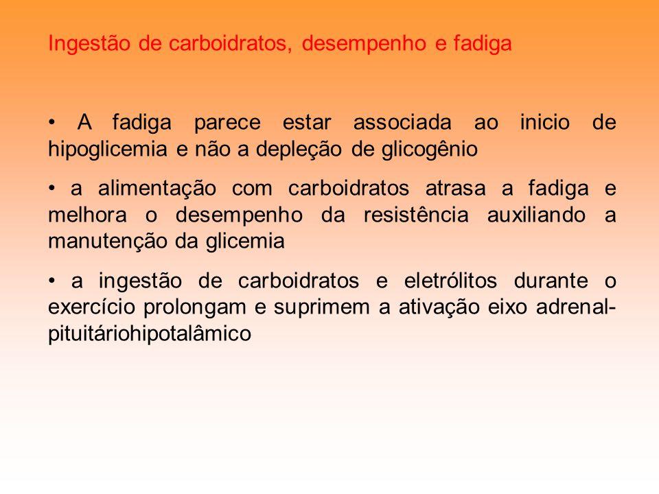 Ingestão de carboidratos, desempenho e fadiga