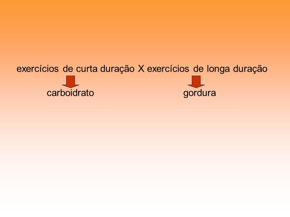 exercícios de curta duração X exercícios de longa duração