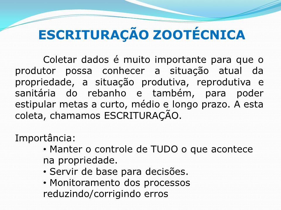 ESCRITURAÇÃO ZOOTÉCNICA