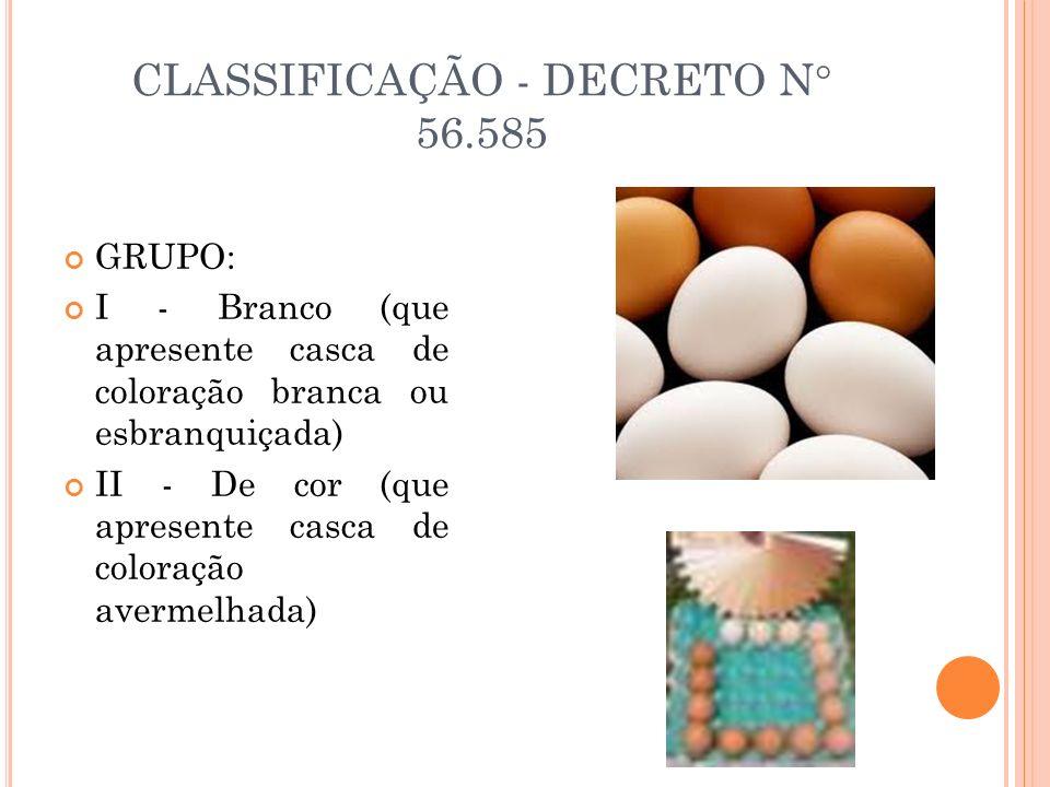 CLASSIFICAÇÃO - DECRETO N 56.585