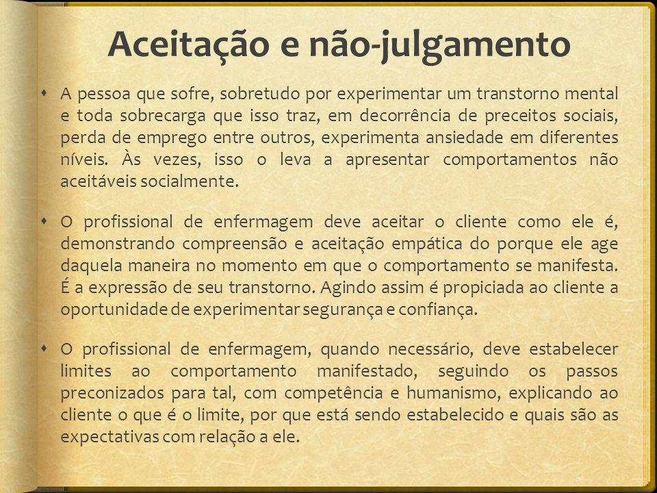 Aceitação e não-julgamento