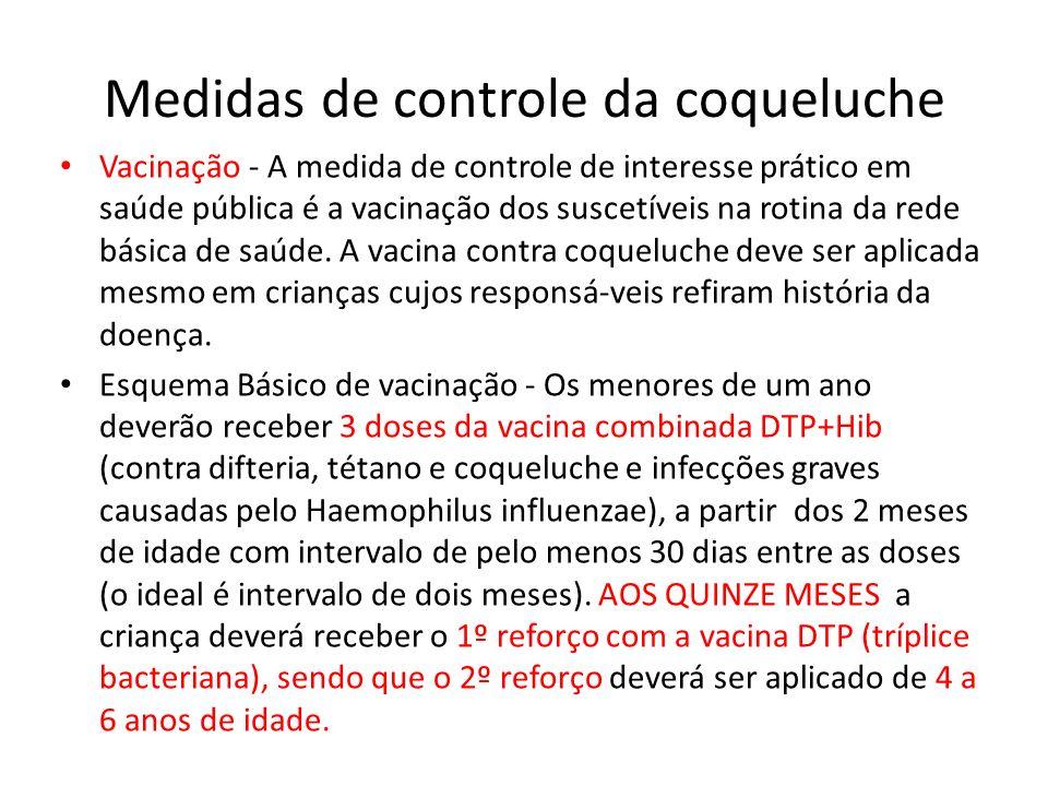 Medidas de controle da coqueluche
