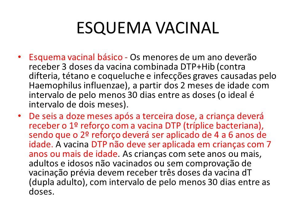 ESQUEMA VACINAL