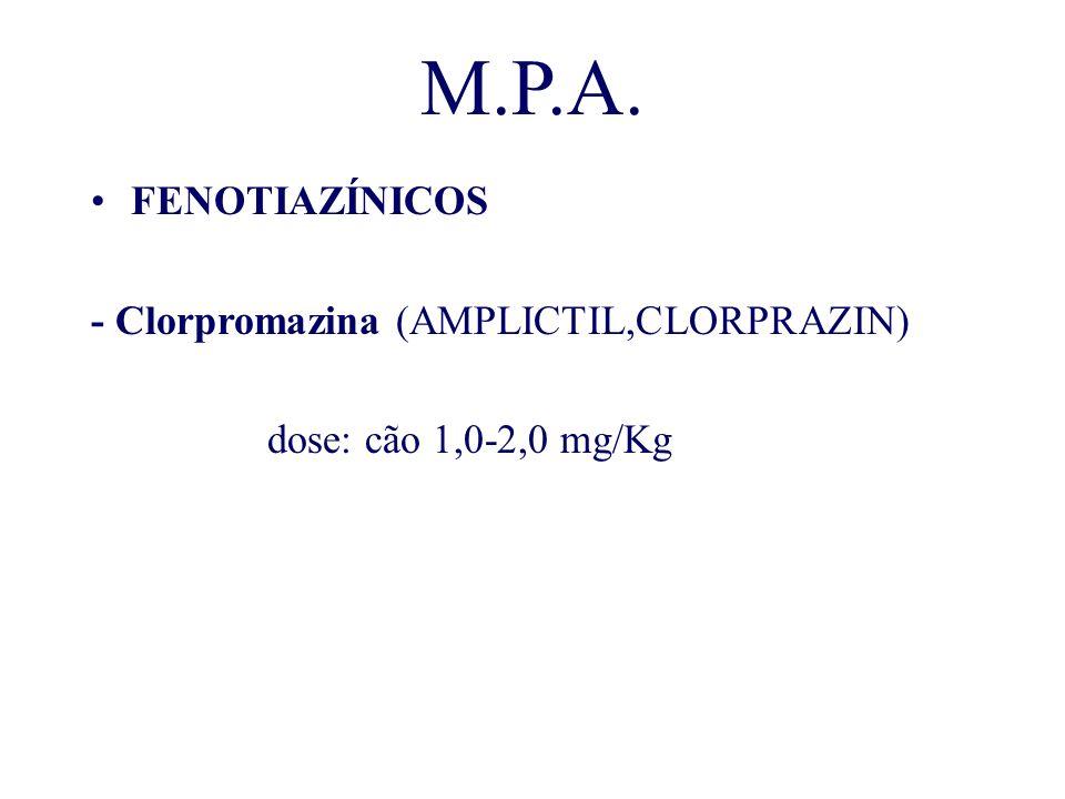 M.P.A. FENOTIAZÍNICOS - Clorpromazina (AMPLICTIL,CLORPRAZIN)