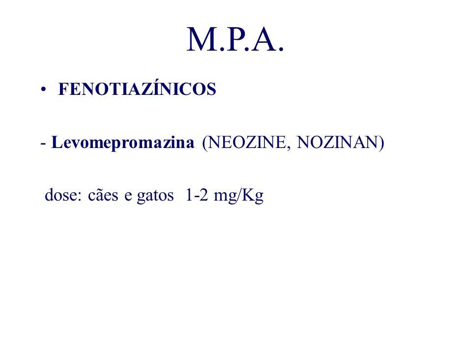 M.P.A. FENOTIAZÍNICOS - Levomepromazina (NEOZINE, NOZINAN)