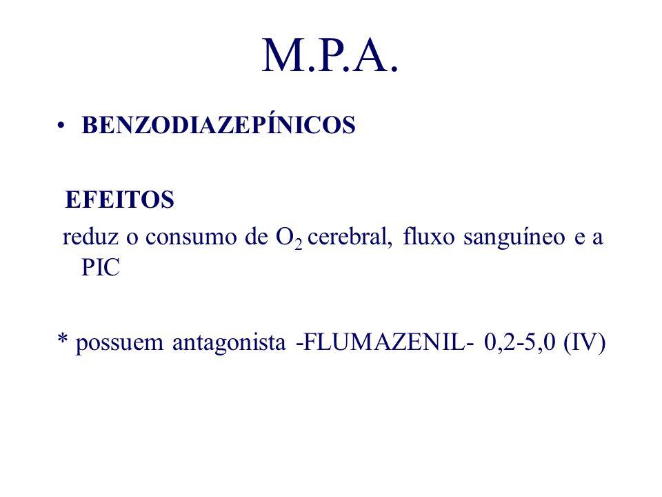 M.P.A. BENZODIAZEPÍNICOS -EFEITOS